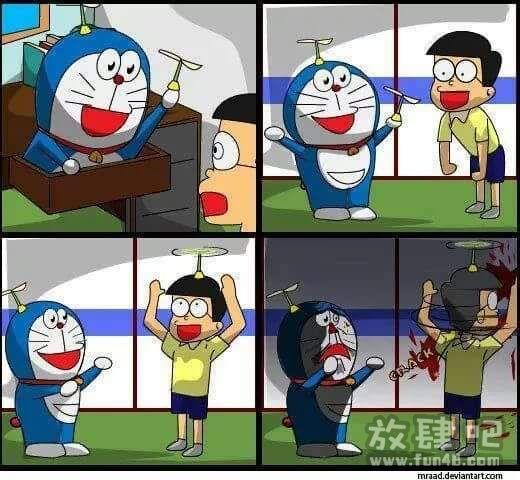 哆啦A梦竹蜻蜓毁童年